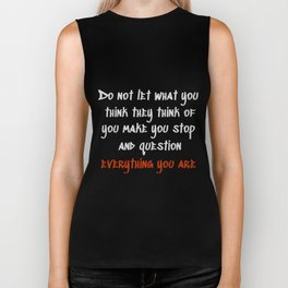 Carrie Fisher Question Quote Biker Tank