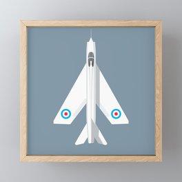 Lightning Jet Fighter - Slate Framed Mini Art Print