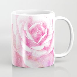 Etching Style Series_Modern Vintage Rose vol.2 Coffee Mug