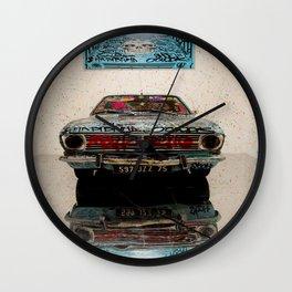 Car & Graffs Wall Clock