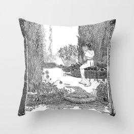 Le Jardin Secret Throw Pillow