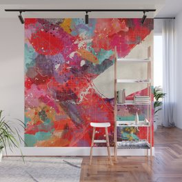 Duluth map Minnesota painting 2 Wall Mural