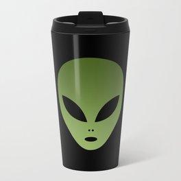 Extraterrestrial Alien Face Travel Mug