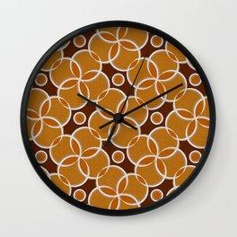 Silver Foil Orange Bubble Roller Rink Carpet Wall Clock