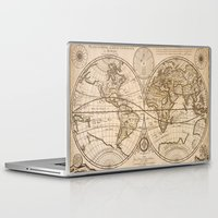 maps Laptop & iPad Skins featuring Old Maps by tanduksapi