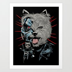 THE TERRIERMINATOR Art Print