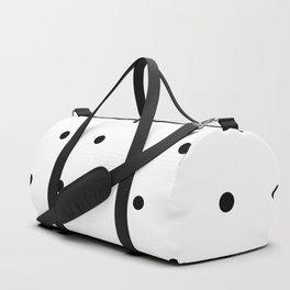 Black and white Polka Dots Pattern Duffle Bag