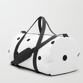 Black and white Polka Dots Pattern Duffle Bag