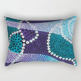 PsychePurple Rain Rectangular Pillow