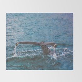 Whale Tail Throw Blanket