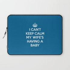 Keep Calm Wife Baby Quote Laptop Sleeve