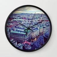 vienna Wall Clocks featuring Vienna by SandraHuezo