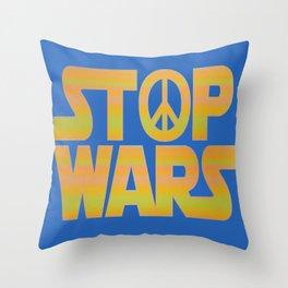 Stop Wars Peace Poster Throw Pillow