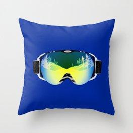 Ski goggles Throw Pillow