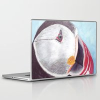 puffin Laptop & iPad Skins featuring Puffin by Art by Frydendal