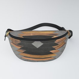 Urban Tribal Pattern No.6 - Aztec - Concrete and Wood Fanny Pack