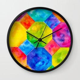 Geometric Brights #1 Wall Clock