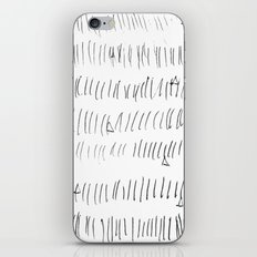 Cussed in Lines iPhone & iPod Skin