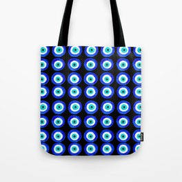 Evil Eye Amulet Talisman - on black Tote Bag