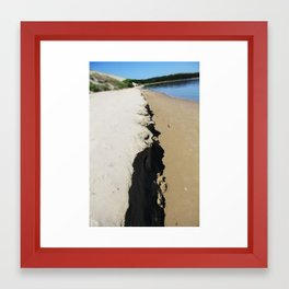 sea ans sand Framed Art Print