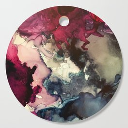 Dark Inks - Alcohol Ink Painting Cutting Board