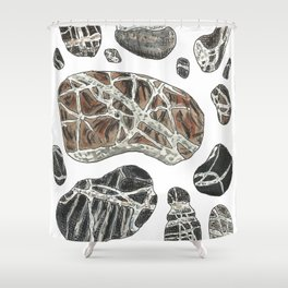 Collection of Stones Shower Curtain