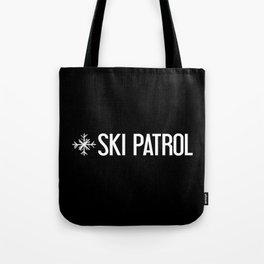 Ski Patrol: Snowflake Tote Bag