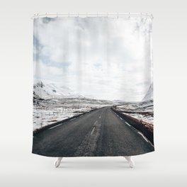 icelandic Winter road Shower Curtain