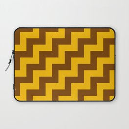Amber Orange and Chocolate Brown Steps RTL Laptop Sleeve