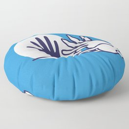 hand shadow rabbit Floor Pillow