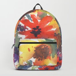 Rainy Day Sunflowers Backpack