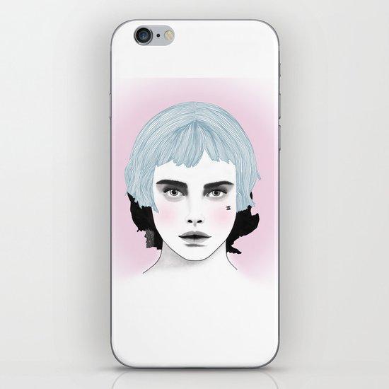Fashion Illustration - Chanel Blue  iPhone & iPod Skin