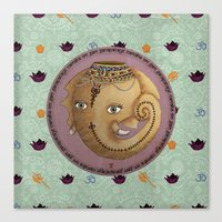 ganesh Canvas Prints featuring Ganesh by S*TRU