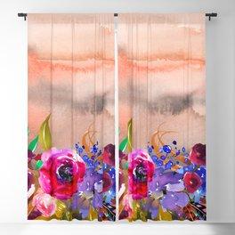 Flowers Bouquet 87 Blackout Curtain