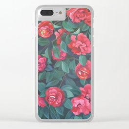 Camellias, lips and berries. Clear iPhone Case