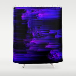 Ultraviolet Light Speed - Abstract Glitch Pixel Art Shower Curtain