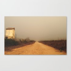 The road to farm Canvas Print