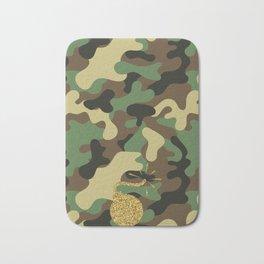 CAMO & GOLD GLITTER BOMB DIGGITY Bath Mat