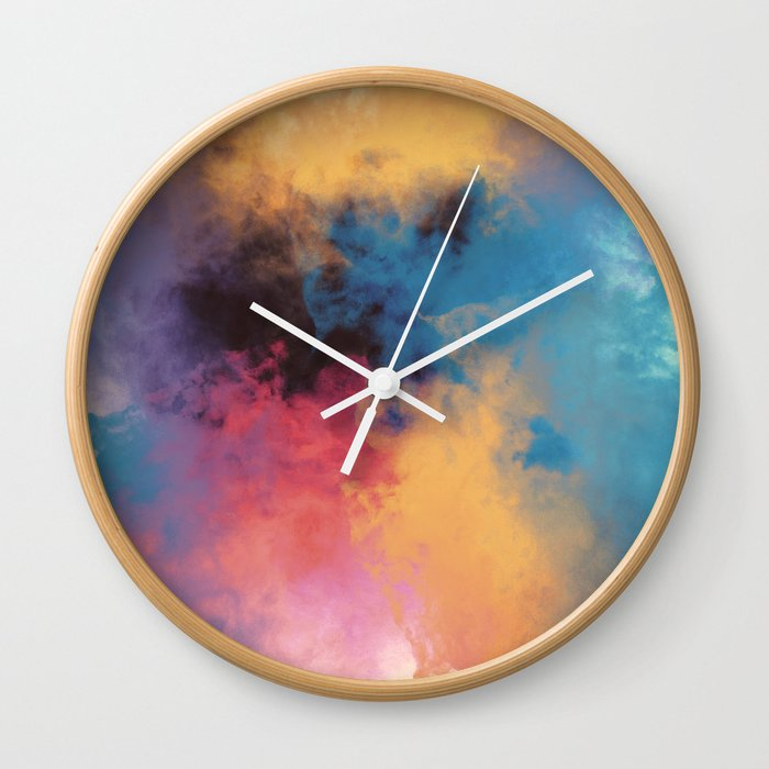 Golden Virus Wall Clock