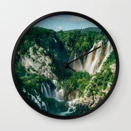 Plitvice Lakes Wall Clock