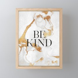 Be Kind Framed Mini Art Print