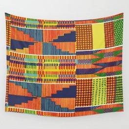 Bright Kente Wall Tapestry