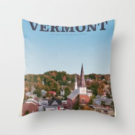 Visit Vermont Throw Pillow
