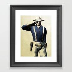 US Cavalry Private Framed Art Print