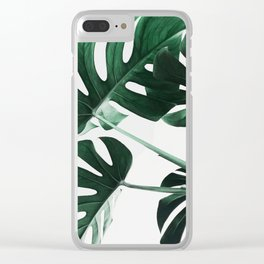 Monstera, Leaves, Plant, Green, Scandinavian, Minimal, Modern, Wall art Clear iPhone Case