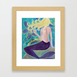 Mermaid Love Framed Art Print