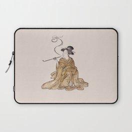 Vintage Oriental Antique Japan Smoking Lady Laptop Sleeve