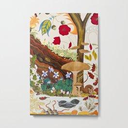 Mole and Mushroom Metal Print