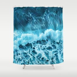 Sea wave Shower Curtain