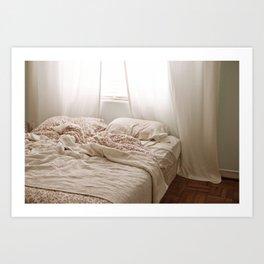 Messy Bed Art Print
